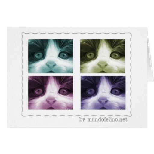 Tarjeta linda del gatito