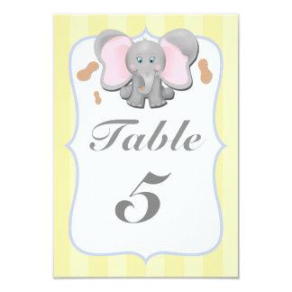 """Tarjeta linda del número de la tabla del fiesta de invitación 3.5"""" x 5"""""""