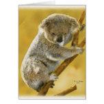 ¡… Tarjeta linda del oso de koala…!