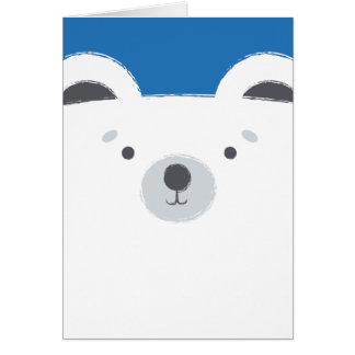Tarjeta linda del oso polar