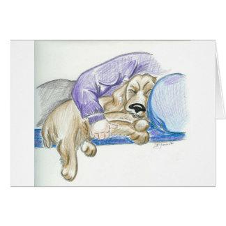 Tarjeta linda del perro de cocker spaniel del