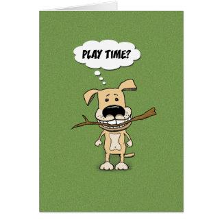 Tarjeta linda del perro: Tiempo del juego
