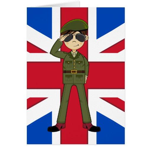 Tarjeta linda del soldado del ejército británico