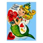 Tarjeta linda retra de la tarjeta del día de San Postal