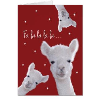 Tarjeta, llamas y copos de nieve chistosos del tarjeta de felicitación