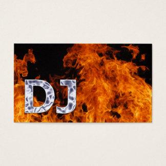 Tarjeta llameante de la industria musical de DJ