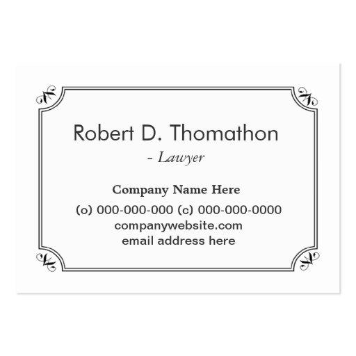Tarjeta llana, simple, blanca, informativa del tarjetas de visita grandes