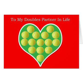 Tarjeta llenada corazón del el día de San Valentín