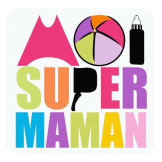 """Tarjeta """"Logotipo Colores Suaves"""" - mí Super Madre Invitación 5.25"""" X 5.25"""""""