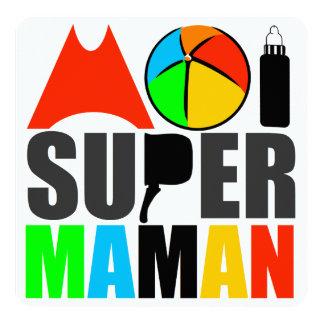 """Tarjeta """"Logotipo Colores Vivos"""" - mí Super Madre Invitación 5.25"""" X 5.25"""""""