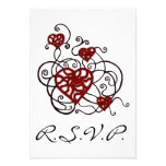 Tarjeta Loopy del enrejado R.S.V.P del corazón del Anuncios Personalizados