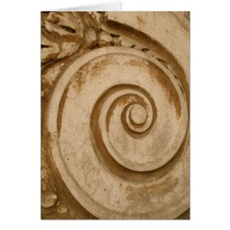 Tarjeta: Losa de mármol en el Colosseum, Roma Tarjeta De Felicitación