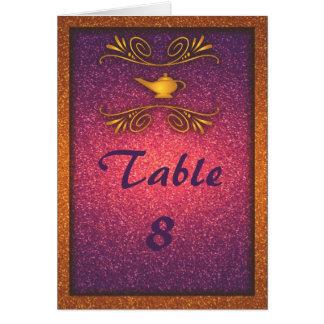 Tarjeta mágica colorida del número de la tabla del