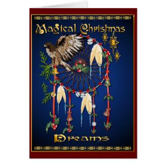 Tarjeta mágica de los sueños del navidad
