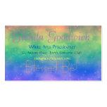 Tarjeta mágica del estándar del arco iris tarjeta de visita