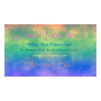Tarjeta mágica del estándar del arco iris tarjetas de visita