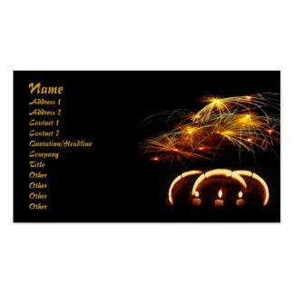 Tarjeta mágica del perfil de las luces tarjetas de visita