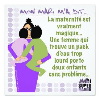 """Tarjeta """"Mágica Maternidad"""" - mí Super Madre Invitación 5.25"""" X 5.25"""""""