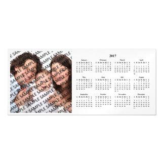 Tarjeta magnética 2017 del calendario de encargo invitaciones magnéticas
