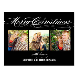Tarjeta magnífica de la foto del navidad de la esc postales