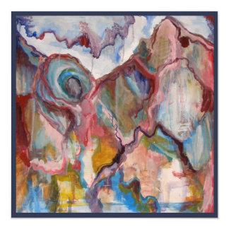 """Tarjeta magnífica del arte de la visión invitación 5.25"""" x 5.25"""""""