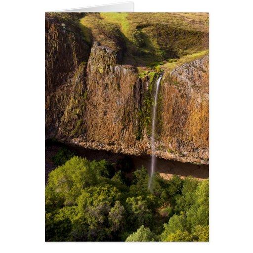Tarjeta majestuosa de la cascada: El fantasma cae