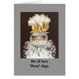 tarjeta malhumorada del bebé del mockingbird
