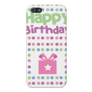 Tarjeta manchada del feliz cumpleaños iPhone 5 carcasa
