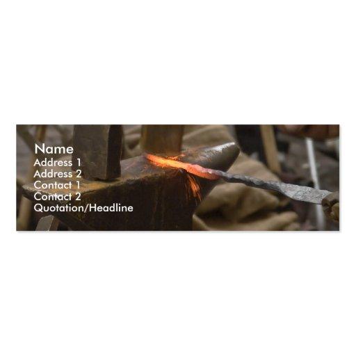 tarjeta manual del perfil del trabajo del martillo plantilla de tarjeta de negocio