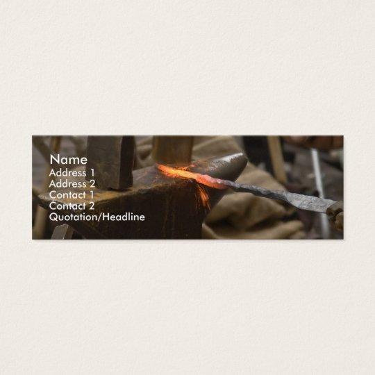 tarjeta manual del perfil del trabajo del martillo tarjetas de visita mini