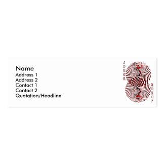 Tarjeta mareada del perfil del comodín del tarjetas de visita mini