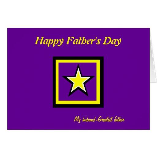 Tarjeta-marido del saludo del día de padre tarjeta de felicitación