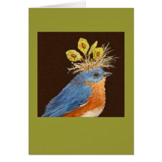 Tarjeta masculina y femenina de los bluebirds