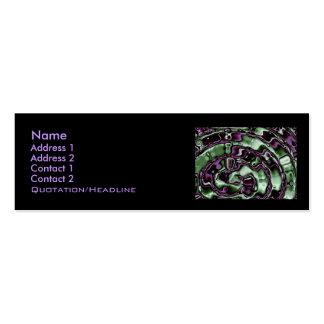 Tarjeta maya del perfil de las gotitas tarjetas de visita mini