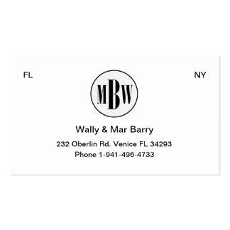 Tarjeta MBW 3 del asunto privado Plantillas De Tarjetas Personales