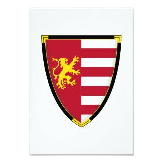 """Tarjeta medieval de RSVP del escudo del león Invitación 3.5"""" X 5"""""""
