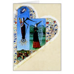 Tarjeta medieval del corazón