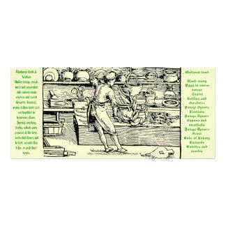 """""""Tarjeta medieval del siglo XII de la cocina y del Lonas Personalizadas"""