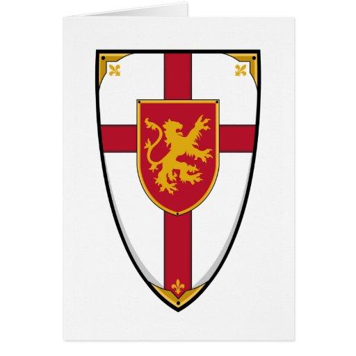 Tarjeta medieval heráldica del escudo de los cabal