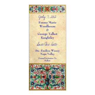 Tarjeta medieval Jeweled de la invitación del