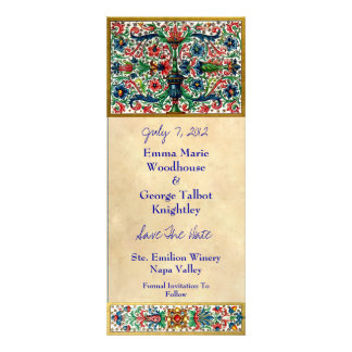 Tarjeta medieval Jeweled de la invitación del manu