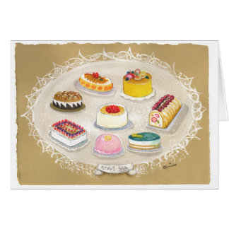 Tarjeta menuda de las tortas de las tortas sabrosa