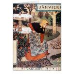 Tarjeta: Mes de enero - Janvier