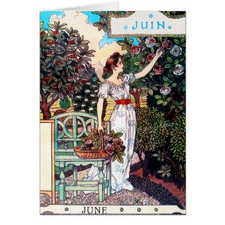 Tarjeta: Mes de junio - Juin Tarjeta De Felicitación