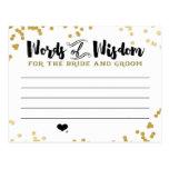 Tarjeta metálica del consejo del oro para la novia tarjeta postal
