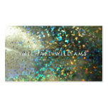 Tarjeta metálico con brillos holograma tarjetas de visita