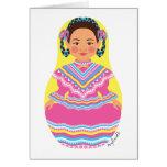 Tarjeta mexicana de Matryoshka del bailarín