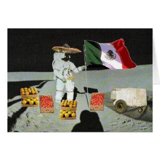 Tarjeta mexicana del vendedor de la luna