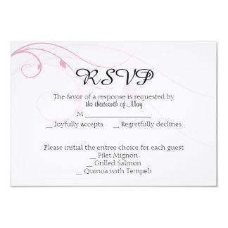 Tarjeta mezclada de la respuesta del boda de la invitación 8,9 x 12,7 cm