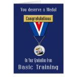 Tarjeta militar de la enhorabuena de la formación